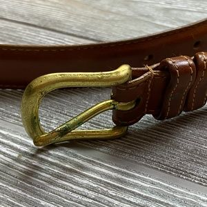 COACH British Tan Leather Belt Brass size 36